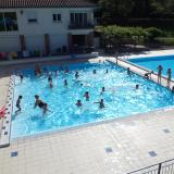 Natation scolaire dans les bassins de la Valane à Collonges